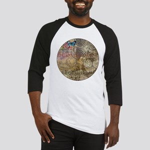 Rome Vintage Italy Travel Collage Baseball Jersey