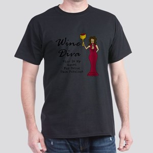 The Wine Diva - Wine Is My Award For  Dark T-Shirt