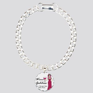 Wine Goddess - All Thing Charm Bracelet, One Charm