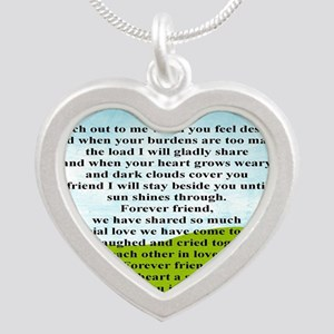 Friendship Silver Heart Necklace