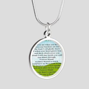 Friendship Silver Round Necklace