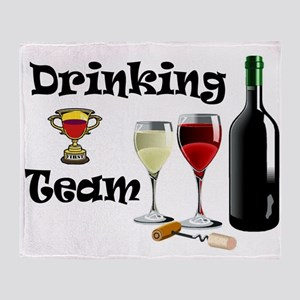 DRINKING TEAM Throw Blanket