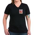 Edwarde Women's V-Neck Dark T-Shirt