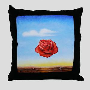 Meditative Rose Throw Pillow