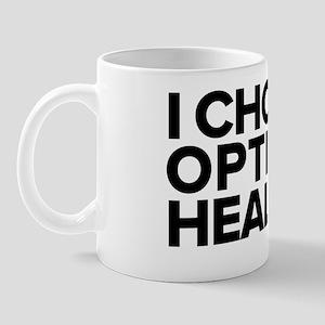 Dr. A I Choose Optimal Health Logo - Bl Mug