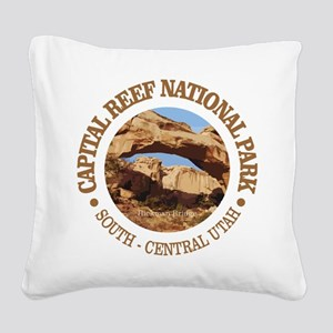 Capital Reef NP Square Canvas Pillow