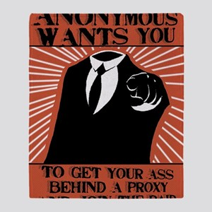 Anonymous 99% Occupy t-shirt Throw Blanket
