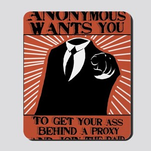 Anonymous 99% Occupy t-shirt Mousepad