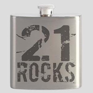 21st Birthday Rocks Flask