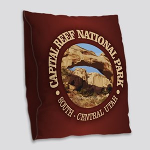 Capital Reef NP Burlap Throw Pillow