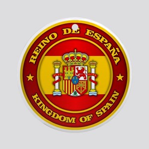 Spain Medallion Round Ornament