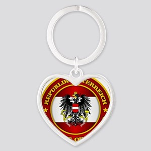 Austria Medallion Heart Keychain