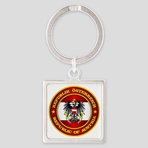 Austria Medallion Square Keychain
