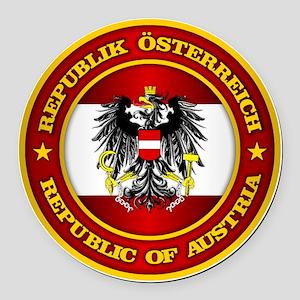Austria Medallion Round Car Magnet