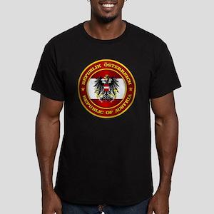 Austria Medallion Men's Fitted T-Shirt (dark)