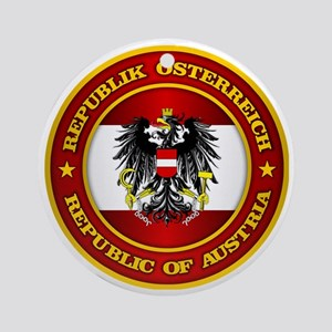 Austria Medallion Round Ornament