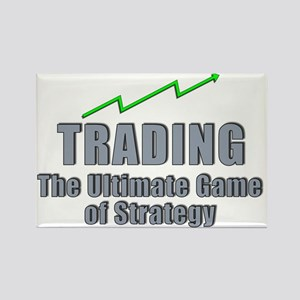 Trading the ultimate game of stra Rectangle Magnet