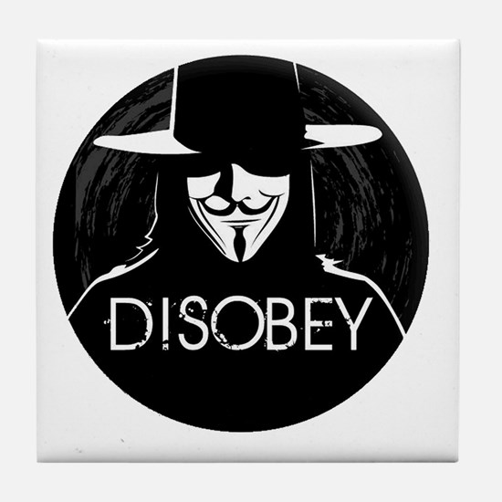 Anonymous 99% Occupy t-shirt Tile Coaster