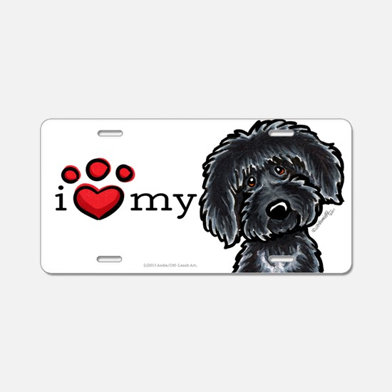 Love My Labradoodle Aluminum License Plate