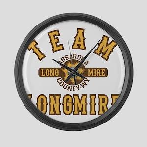 Team Longmire Large Wall Clock
