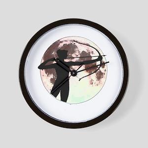 Artemis the bow hunter Wall Clock