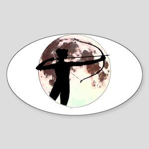 Artemis the bow hunter Oval Sticker