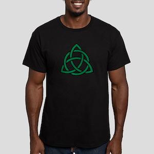 Green Celtic knot Men's Fitted T-Shirt (dark)
