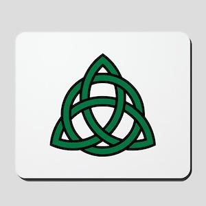 Green Celtic knot Mousepad