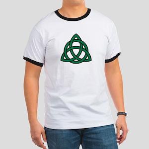 Green Celtic knot Ringer T