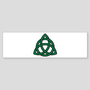 Green Celtic knot Sticker (Bumper)