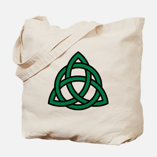 Green Celtic knot Tote Bag