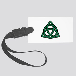 Green Celtic knot Large Luggage Tag