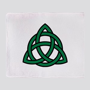 Green Celtic knot Throw Blanket