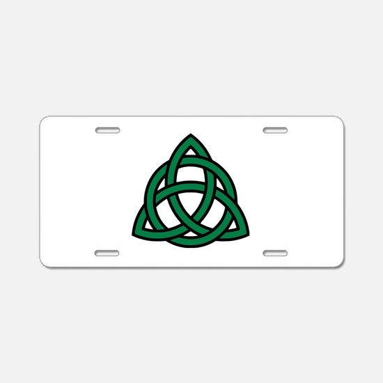 Green Celtic knot Aluminum License Plate