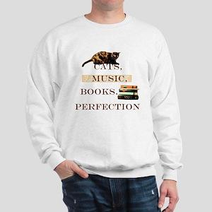 Cats, books and music Sweatshirt
