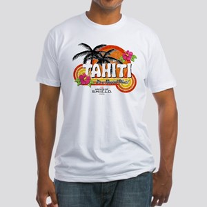 Greetings From Tahiti Fitted T-Shirt