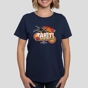 Greetings From Tahiti Women's Dark T-Shirt