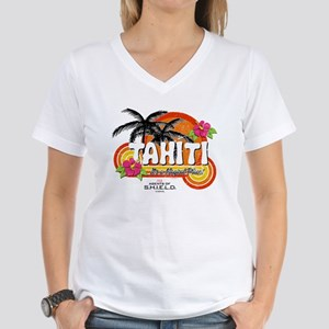 Greetings From Tahiti Women's V-Neck T-Shirt