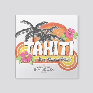 "Greetings From Tahiti Square Sticker 3"" x 3"""