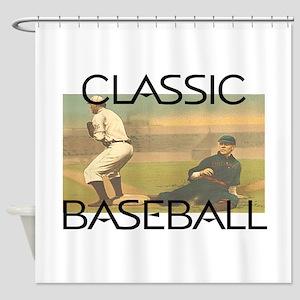 TOP Classic Baseball Shower Curtain