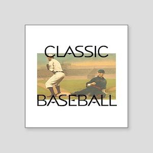 """TOP Classic Baseball Square Sticker 3"""" x 3"""""""