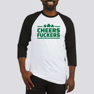 Cheers fuckers shamrocks Baseball Jersey