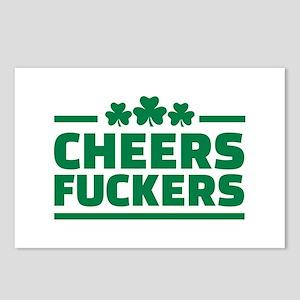 Cheers fuckers shamrocks Postcards (Package of 8)
