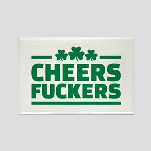 Cheers fuckers shamrocks Rectangle Magnet