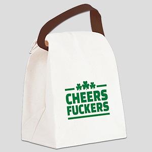 Cheers fuckers shamrocks Canvas Lunch Bag