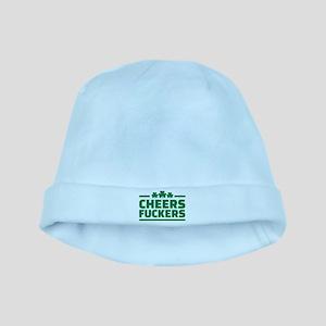 Cheers fuckers shamrocks baby hat