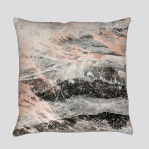 Rose Gold Marble Stone Everyday Pillow