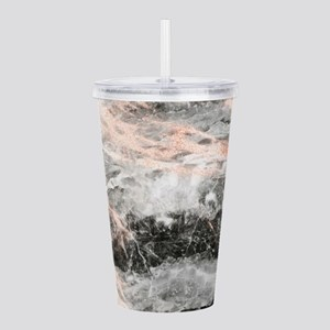 Rose Gold Marble Stone Acrylic Double-wall Tumbler