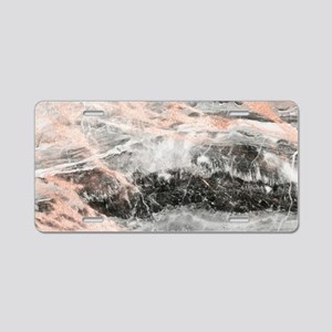 Rose Gold Marble Stone Aluminum License Plate