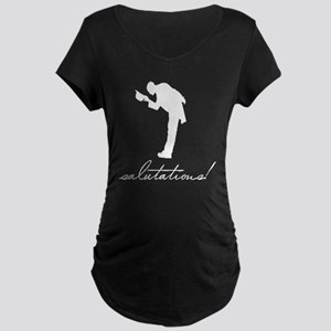 salutations wht Maternity Dark T-Shirt